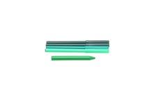 Grüne Markierungen und Bleistifte Stockfotos