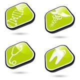 Grüne medizinische Ikonen Lizenzfreies Stockbild