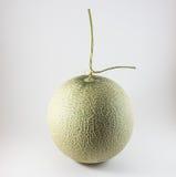 Grüne Melone lokalisiert auf weißem Hintergrund Stockfotos