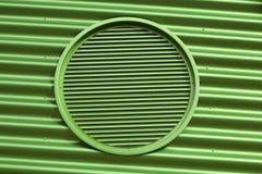 Grüne Metallbelüftungsöffnung Lizenzfreie Stockbilder