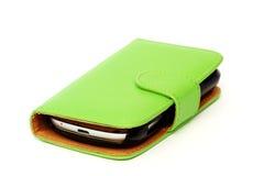Grüne mobile Abdeckung Stockfotografie