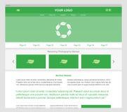 Grüne moderne entgegenkommende Websiteschablone Stockfoto