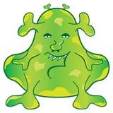 Grüne Monster-Zeichentrickfilm-Figur Stockbild