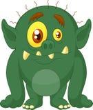 Grüne Monsterkarikatur Lizenzfreies Stockbild