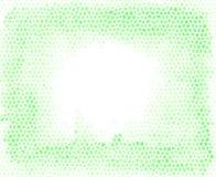 Grüne Mosaikkiesel mögen Vektorhintergrund mit einem leeren Raum an der Mitte des Bildes Geometrischer Plan für den Druck Lizenzfreie Abbildung