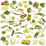 Grüne Nahrungsmittelansammlung lizenzfreies stockfoto