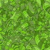 Grüne nahtlose Musterkrake Stockfotografie