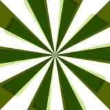 Grüne Naturstrahlen in der Bewegung Stockfotos