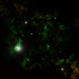 Grüne Nebelflecke Stockbild