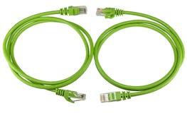 Grüne Netzkabel des twisted pair lizenzfreie stockfotos