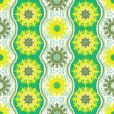 Grüne orientalische Verzierung des Sommers Stockbild