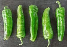 Grüne Paprikas Stockfoto