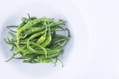 Grüne Paprikas lizenzfreies stockfoto