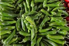 Grüne Paprikas auf Stall in Basarantalya-Truthahn Lizenzfreies Stockbild