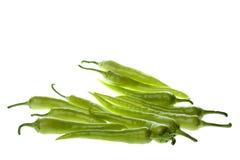 Grüne Paprikas getrennt Lizenzfreie Stockfotografie