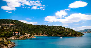 Grüne Paradiesinsel Stockfoto