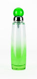 Grüne parfume Flasche lokalisiert Stockbilder