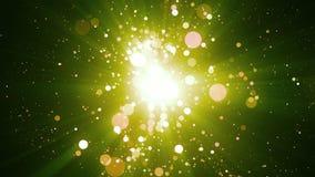 Grüne Partikel-abstrakter Hintergrund stock video