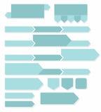 Grüne Pfeile, Diagramme und Ikonen, infographics Lizenzfreies Stockbild