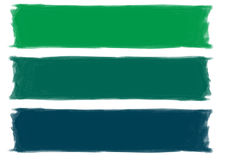 Grüne Pinselanschläge stockfotos