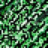 Grüne Pixelhintergrund-Vektorillustration Stockbilder
