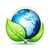 Grüne Planet Erde Stockbild