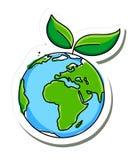 Grüne Planetenikone Lizenzfreies Stockbild
