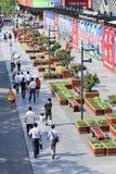 Grüne Plantagen im Peking-ZentralGeschäftsgebiet Stockfotos