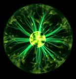 Grüne Plasmakugel stockfoto