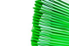 Grüne Plastikfaltblätter Lizenzfreie Stockbilder