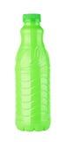 Grüne Plastikflasche Stockfotos