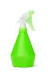 Grüne Plastiksprayflasche Stockfotos