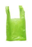 Grüne Plastiktasche Lizenzfreie Stockfotos