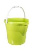 Grüne Plastikwanne Lizenzfreies Stockfoto