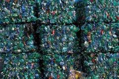Grüne Plastikwiederverwertung Lizenzfreie Stockfotografie