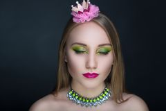 Grüne Prinzessin Frog Lizenzfreies Stockbild