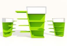 Grüne Regale Stockfotografie