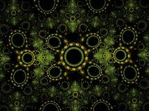 Grüne Ringe Abstraktes computererzeugtes Bild Stockbild