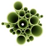 Grüne Rohre getrennt auf weißem backgrou Lizenzfreies Stockbild