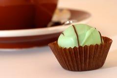 Grüne Süßigkeit und Kaffee Lizenzfreies Stockfoto