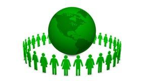 Grüne saubere Erde stock video footage