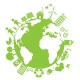 Grüne saubere Umgebung Stockbild