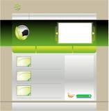 Grüne Schablone der Web site Stockfoto