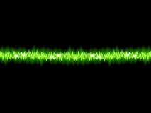 Grüne Schallwelle auf weißem Hintergrund.  Lizenzfreie Stockbilder