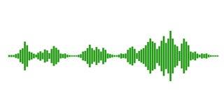 Grüne Schallwellen vektor abbildung