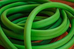 Grüner Schlauch Stockfoto