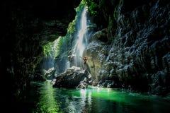 Grüne Schlucht Indonesien Stockfotos