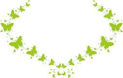 Grüne Schmetterlinge für Grußkarten Lizenzfreies Stockfoto