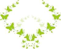 Grüne Schmetterlinge für Grußkarten Lizenzfreie Stockfotografie