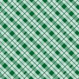 Grüne Schottenstoffgewebebeschaffenheit in einer nahtlosen Vektorillustration des quadratischen Musters stock abbildung